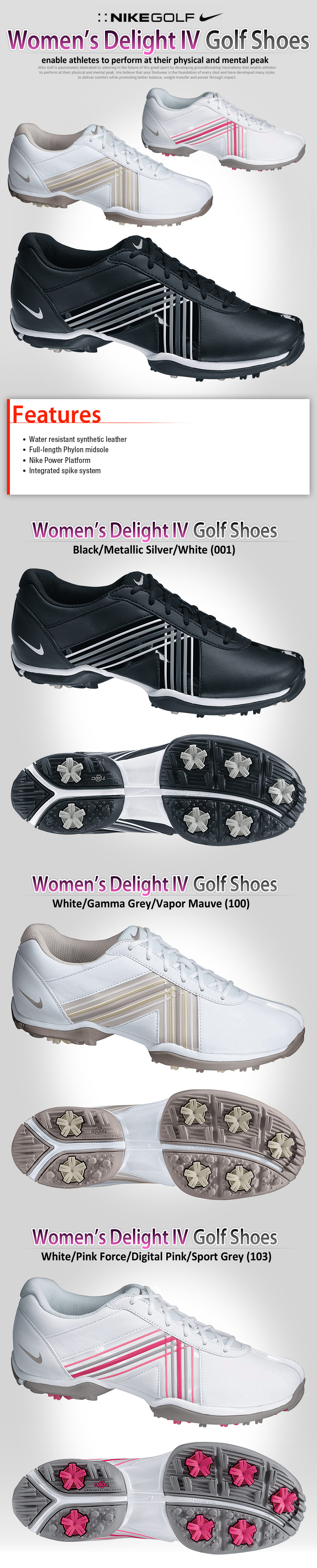 cheap for discount f268d 5baf2 NIKE Delight IV Women s Golf Shoes - Shoes